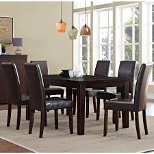 9 Pc Dining Room Set by Simpli Home Acadian 7 Piece Tanners Brown Dining Set Axcds7 Aca Br