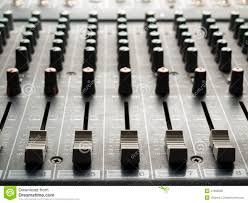 Sound Desk Mixing Desk Faders And Knobs Stock Photo Image 41995995