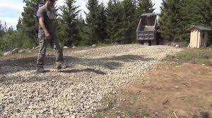 gravel driveway youtube