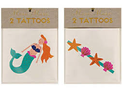 mermaid tattoos under the sea tattoos meri meri fake tattoo