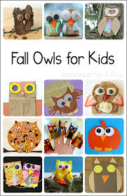 fall owl crafts and activities for kids