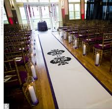 black aisle runner coordination