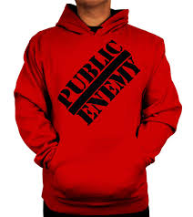 public enemy red classic hoodie
