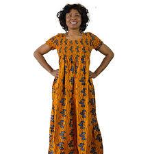 african kaftan dress orange african print plus size dress