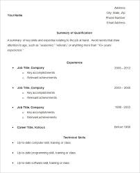 Sample Resume Curriculum Vitae by Basic Resume 14 Basic Resume Outline Sample