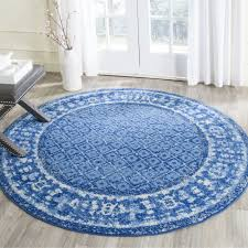 light blue round area rug safavieh adirondack vintage light blue dark blue rug 8 round