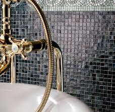 bathroom mosaic tile wall glass plain natural earth sicis