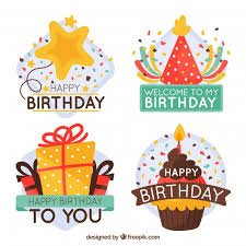 birthday stickers pretty birthday stickers with message vector free