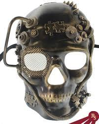 steunk masquerade mask gold robotic skull mask masquerade streunk masks