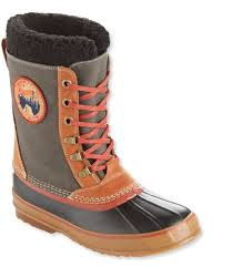 men u0027s l l bean snow boots with patch canvas lace up