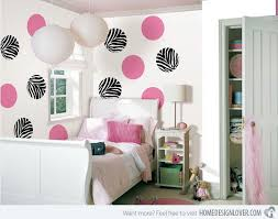 How To Design Bedroom Walls With Polka Dots And Circles Home - Design for bedroom wall
