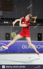 lauren smith of england v malaysia in the semi finals of the