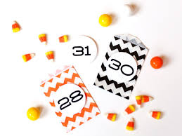 orange halloween ribbon background halloween countdown calendar how tos diy