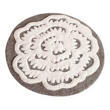 Black And White Bathroom Rug by Seedling Aviary Round Bath Rug 24
