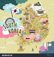 Map Of South Korea Royalty Free Lovely South Korea Travel Map In Flat U2026 334159145