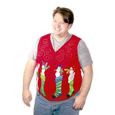 sweater vests mens snowmen popping out of sweater vest