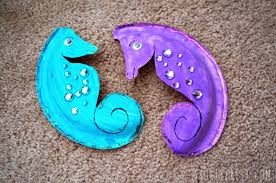 paper plate seahorse shortyfresh
