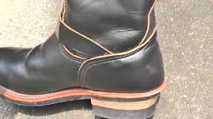 engineer style motorcycle boots red wing engineer boots 2268 youtube
