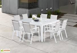 emejing table de jardin aluminium blanche ideas amazing house