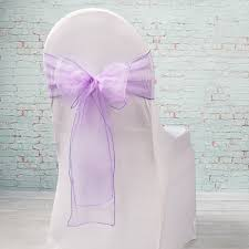 chair bows sheer purple organza chair sashes