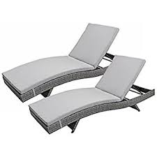 White Wicker Chaise Lounge Clearance Amazon Com Keter Pacific 2 Pack All Weather Adjustable Outdoor