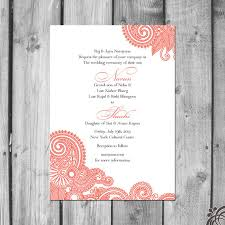 henna invitation henna inspired wedding invitation set