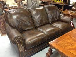 Leather Patches For Sofas Brown Leather Hancock And Moore Sofa Couch For Sale 3000