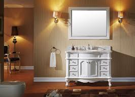 Virtu Bathroom Accessories by Virtu Es 27048 Wmro Wh Norhaven Single Bathroom Vanity Cabinet Set