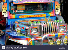 jeepney philippines art jeepney at carbon market downtown cebu city philippines stock