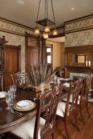 ideas centerpieces dining room victorian with wallpaper victorian
