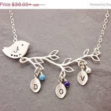 mothers necklace with kids birthstones shop s necklace with kids birthstones on wanelo