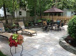 Patio Landscaping Ideas Garden Brick Wall Design Ideas Patio Traditional With Cottage