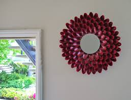 how to make home decor crafts bedroom graceful how to make pretty flower mirror decoration