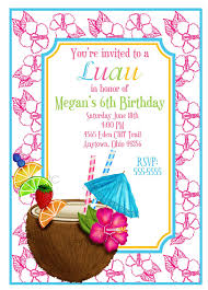 hawaiian luau invitations luau invitations coconut hawaiian