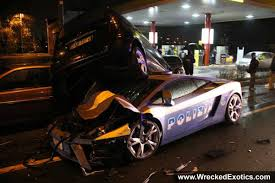 lamborghini gallardo police car crash accident