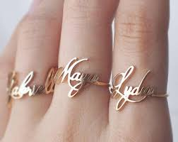 personalized rings with names sandi pointe library of collections