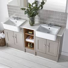 His And Hers Bathroom by Roper Rhodes Burford Mocha His And Hers Mocha Single Unit Might