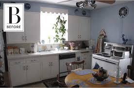 Design A Kitchen Before U0026 After A Diy Kitchen Remodel With Scallop Tile Backsplash