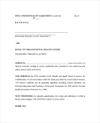 personal confidentiality agreement sample non disclosure