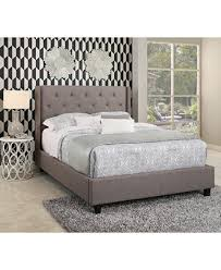 Upholstered Platform Bed King Michael Tufted Upholstered Platform Bed King Ship