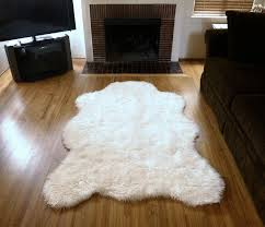 rug faux bear rug huge sheepskin rug faux fur rugs cheap