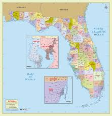 Georgia And Florida Map by Buy Florida Zip Code With Counties Map