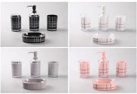 extraordinary pink and grey bathroom accessories contemporary