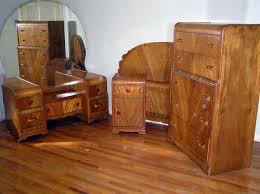 Antique Bedroom Furniture Styles Waterfall Style Furniture Waterfall Bedroom Set 1930 40
