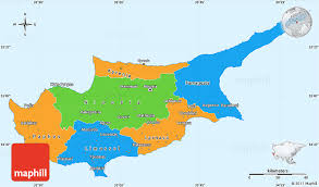 map of cyprus political simple map of cyprus