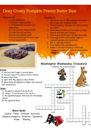 Light Brown Crossword Washington Fall 2014 U2014 Teach