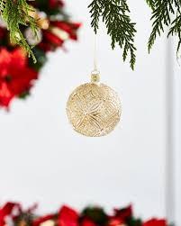 gold glitter decorations at neiman