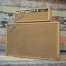 vintage fender 2x12 cabinet a 1964 fender piggyback bassman head and 2x12 cabinet in rare blonde