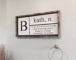 Black And White Bathroom Decor by Bathroom Wall Decor Etsy