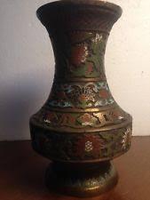Enamel Vase Brass And Enamel Vase Ebay